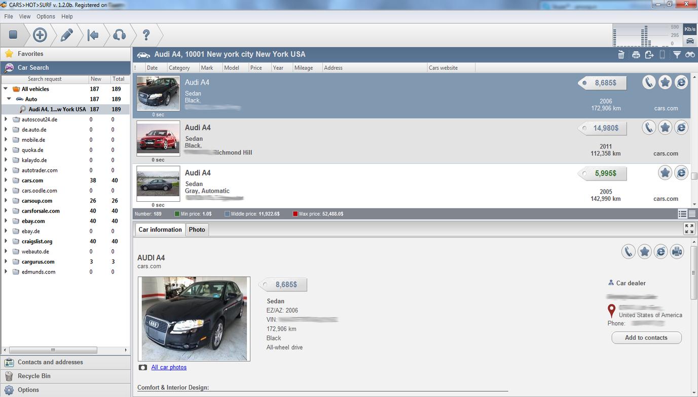 Cars HotSurf program features