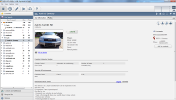 Automated translation of the content of car ads